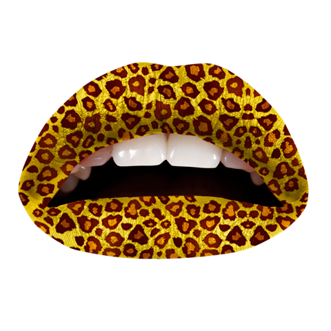 Temporary Lip Tattoos - Cheetah