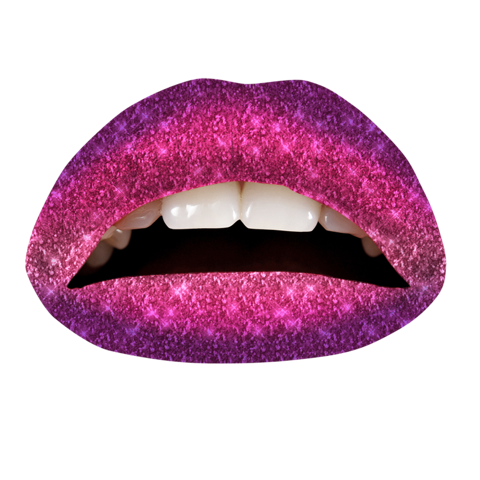 Temporary Lip Tattoos - Very Berry Ombre Glitteratti