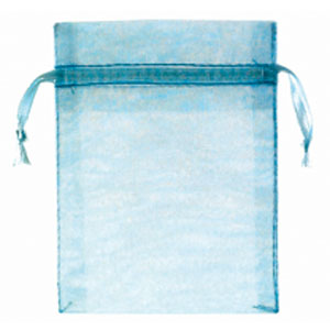 Baby Shower Organza Favor Bags - Blue