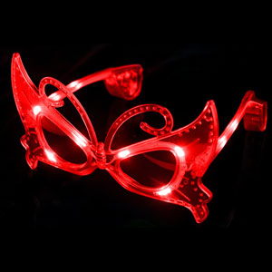 LED Butterfly Sunglasses - Red