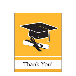 Grad Thank You Card - Yellow