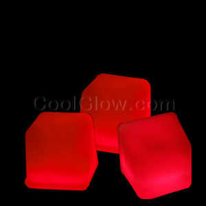 Glowing Ice Cubes - Red - 21st Birthday Party Stuff