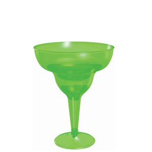 Green Margarita Glass 8 oz.- 20ct