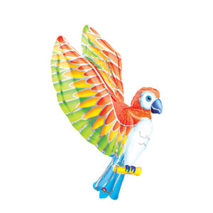 Tropical Parrot Shape Balloon- 43in