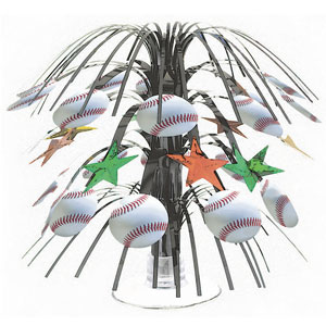 Championship Baseball Mini Cascade Centerpiece- 8in
