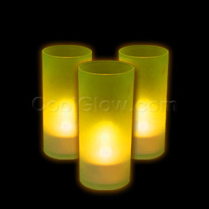 LED Pillar Candle - Yellow