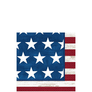 Americana Beverage Napkins - 100ct