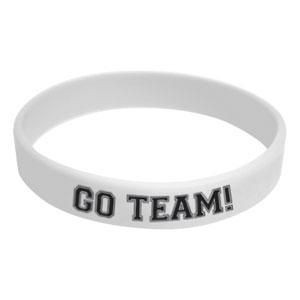 Go Team Wristband - White