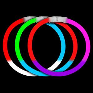 8 Inch Glow Bracelets Tri-Colors - Assorted
