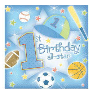 First Birthday All-Star Luncheon Napkins - 36ct