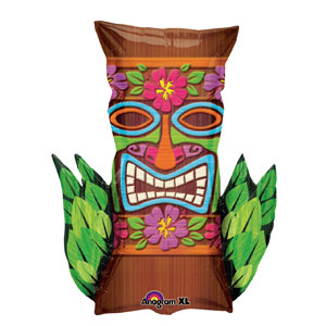 Tiki Time Shape Balloon- 30in