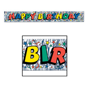 Happy Birthday Fringe Banner 1 - 5 foot