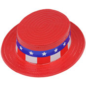 Patriotic Red Skimmer Hat