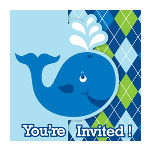 Ocean Preppy Diecut Gatefold Invitation - 8ct