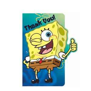 SpongeBob Die-Cut Thank You Cards- 8ct