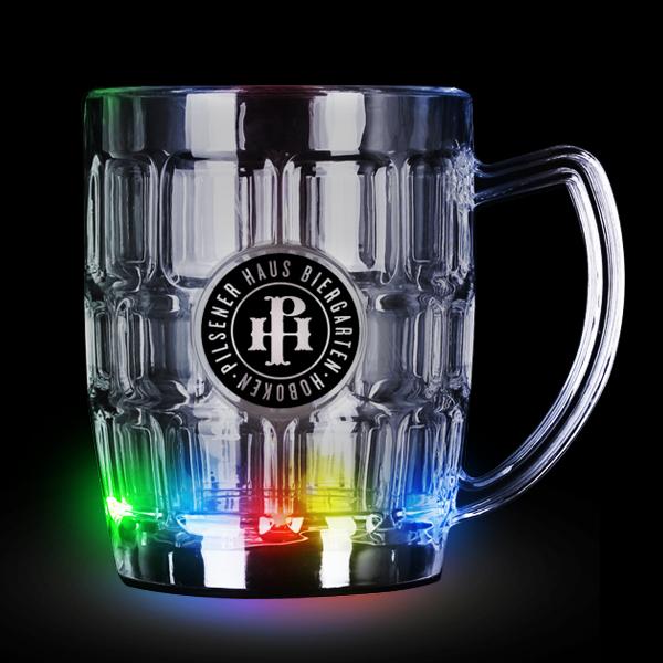 LED Flashing Beer Mug - 16 oz.