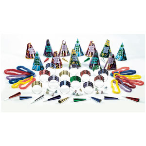 Party Time New Years Party Kit for 25- 63pc