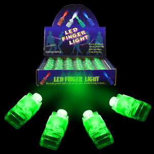 LED Finger Lights - Green 36ct