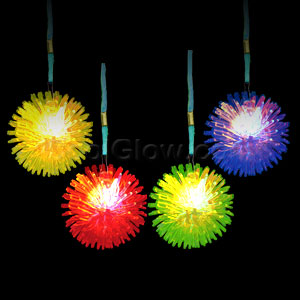 Fun Central AC689 LED Light Up Porcupine Necklaces - Assorted