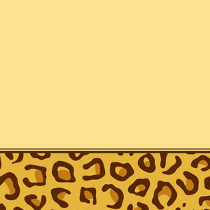 Leopard Print Plastic Tablecover- 108in