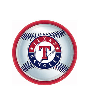 Texas Rangers 9 Inch Plates- 18ct