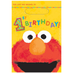 Sesame Street 1st Birthday Favor Bags - 8ct