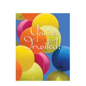 Photo Real Balloon Invitations- 8ct