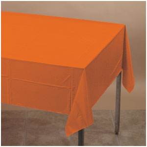 Orange Plastic Tablecover