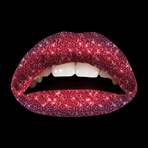 Temporary Lip Tattoos - Red Velvet Ombre Glitteratti