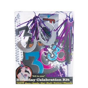 30th Birthday Party Kit- 6pc
