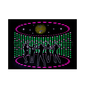 LED Sound Activated Patch - Disco Dancers