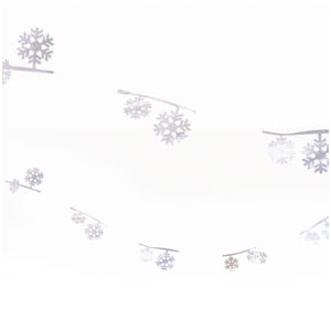 Snowflakes Wire Garland- 12ft