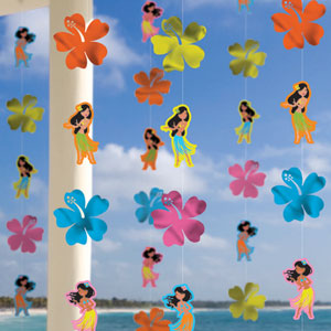 Hula Girl String Decorations- 6ct