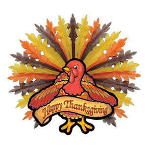 Thanksgiving Turkey Hanging Decoration - 31 inches