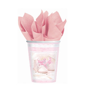 Tiny Blessing Pink 9 oz. Cups- 8ct