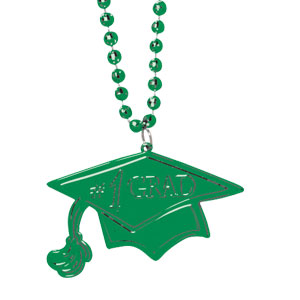 Green Graduation Bead Necklace