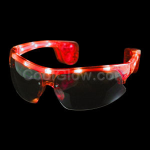 LED Sporty Sunglasses - Red