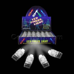 Fun Central X824 LED Light Up Finger Lights - White 36ct