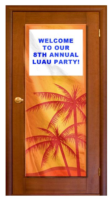 Tropical - Custom Door Banner  sc 1 st  Cool Glow & Tropical - Custom Door Banner - Coolglow.com
