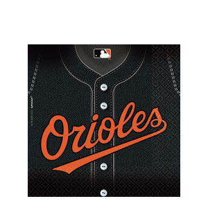 Baltimore Orioles Luncheon Napkins- 36ct