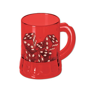 Mug Shot Glass w Dice - 5ct dice