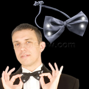 LED Bow Tie - Black