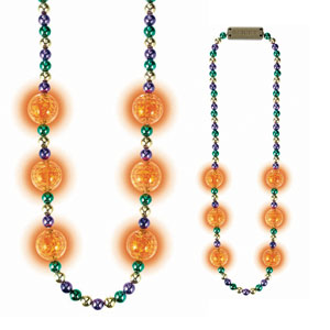 Mardi Gras Light Up Necklace - 42 Inches