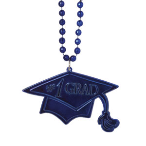 Blue Graduation Bead Necklace