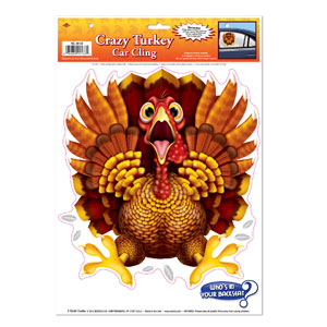Crazy Turkey Cling
