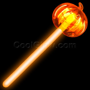 Glow Pumpkin Wand - Orange