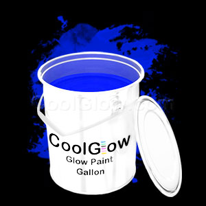 Glominex Glow Paint Gallon - Blue