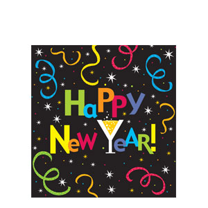New Year Jazz Plastic Tablecover