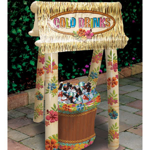 Inflatable Tiki Hut Cooler - 4ft