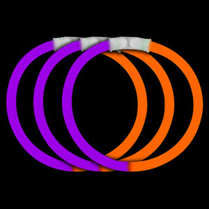 8 Inch Glow Bracelets - Purple-Orange